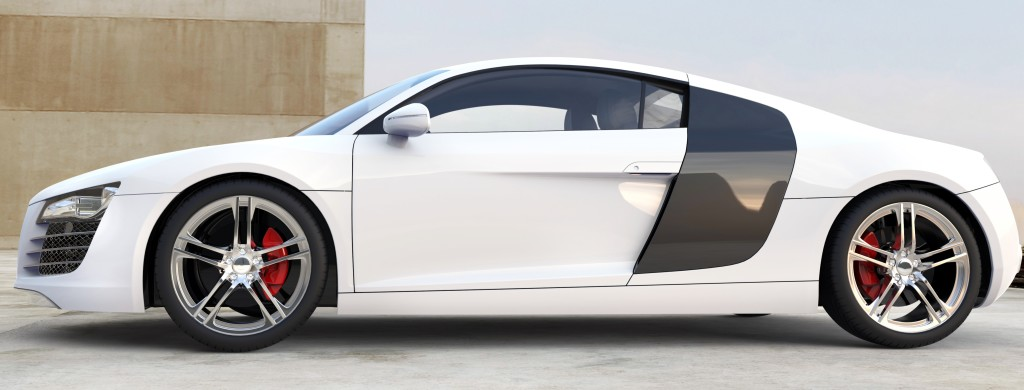 White Supercar